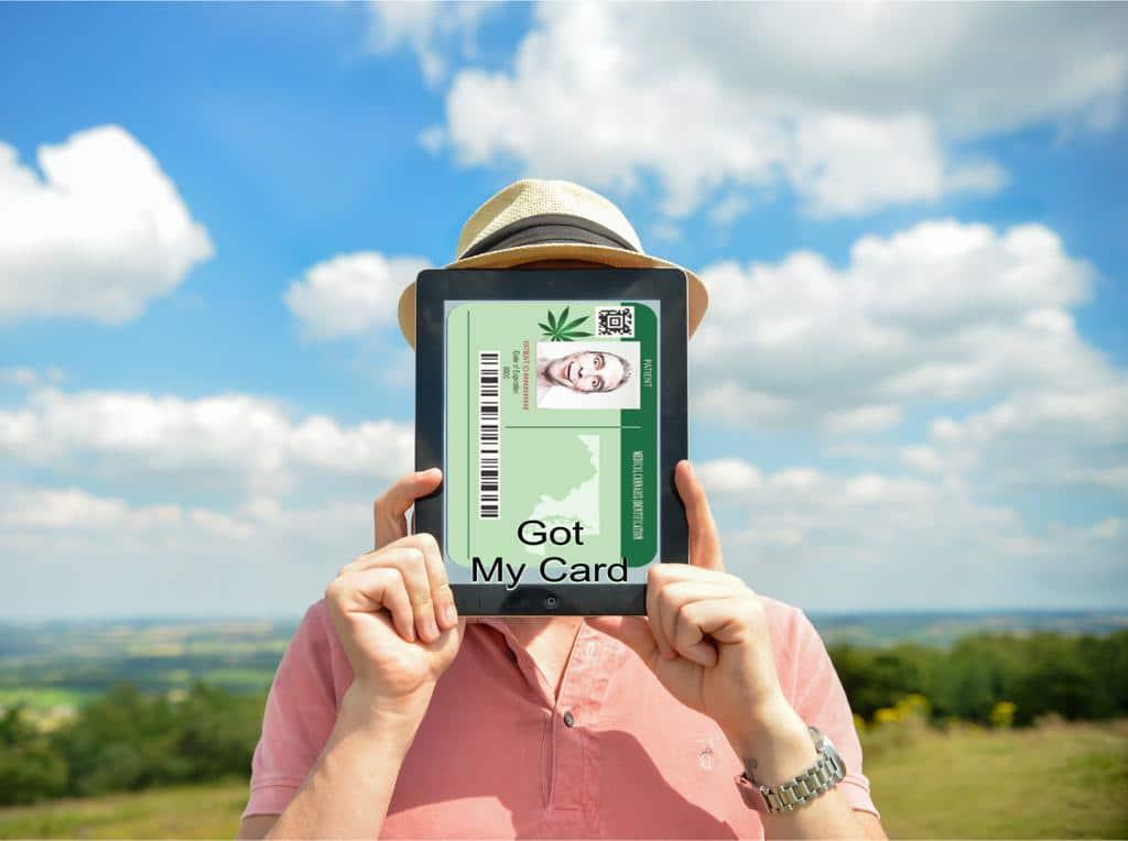 AmediCanna Maryland Medical cannabis Card Sample Pic